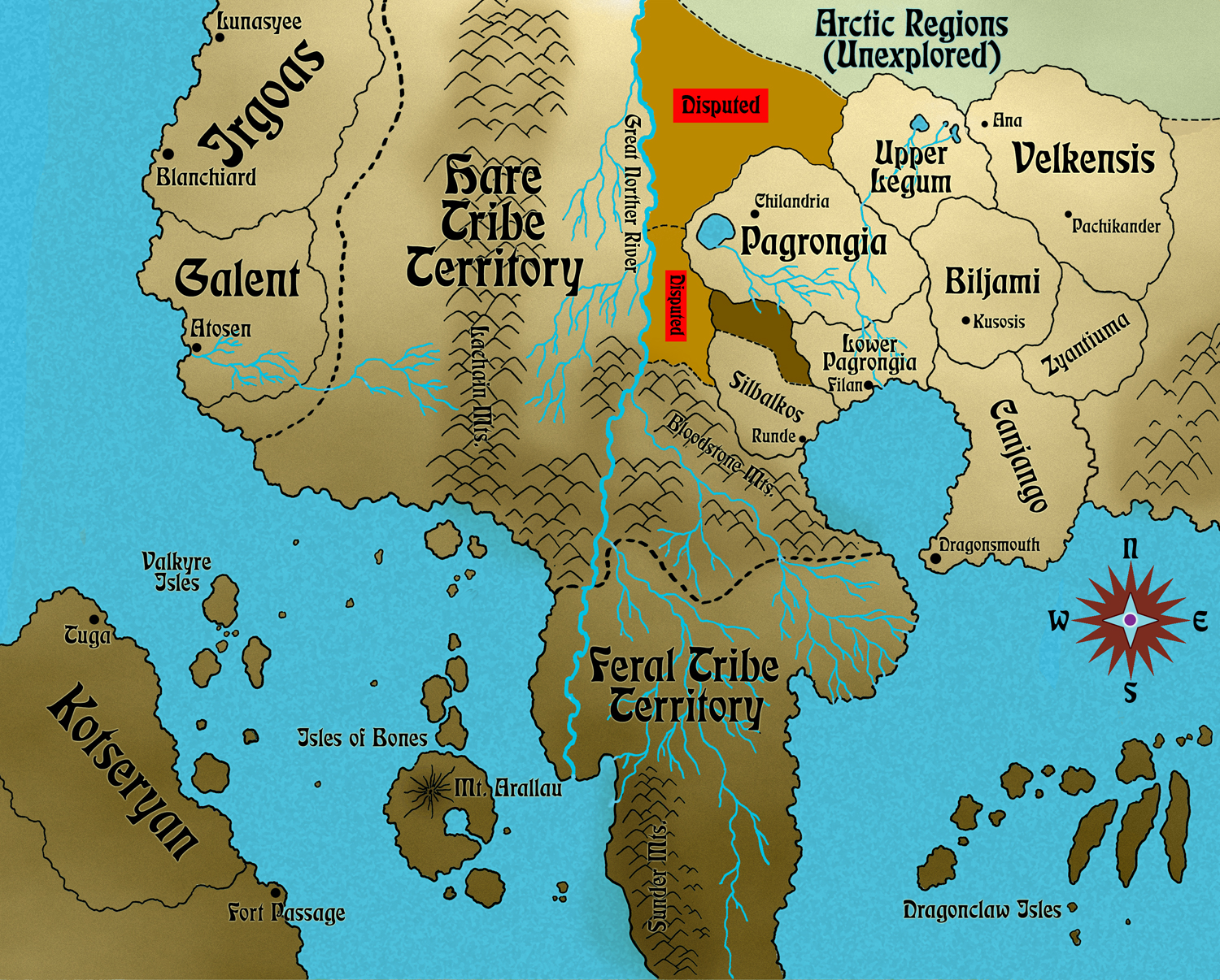 A Map Of Lusynda's World